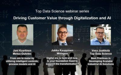 Top Data Science webinar series: Driving Customer Value through Digitalization and AI